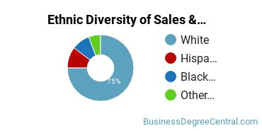 General Sales & Marketing Majors in CT Ethnic Diversity Statistics