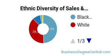 General Sales & Marketing Majors in GA Ethnic Diversity Statistics