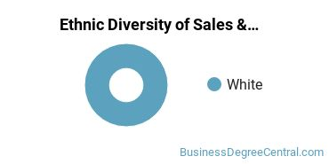 General Sales & Marketing Majors in NJ Ethnic Diversity Statistics