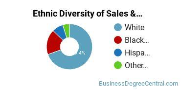 General Sales & Marketing Majors in SC Ethnic Diversity Statistics