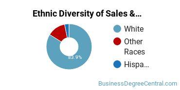 General Sales & Marketing Majors in SD Ethnic Diversity Statistics