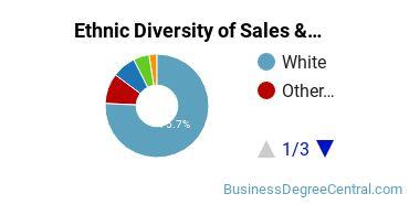 General Sales & Marketing Majors in UT Ethnic Diversity Statistics