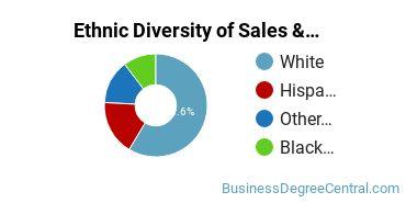 General Sales & Marketing Majors in WV Ethnic Diversity Statistics