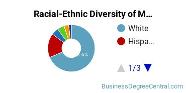 Racial-Ethnic Diversity of Meeting and Event Planning Students with Bachelor's Degrees