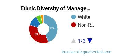 Management Sciences & Methods Majors in AZ Ethnic Diversity Statistics