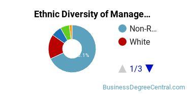 Management Sciences & Methods Majors in CA Ethnic Diversity Statistics