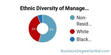 Management Sciences & Methods Majors in DE Ethnic Diversity Statistics