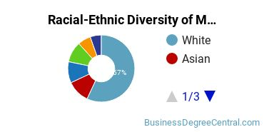 Racial-Ethnic Diversity of Management Science Students with Bachelor's Degrees