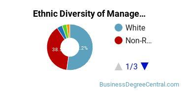 Management Sciences & Methods Majors in OH Ethnic Diversity Statistics