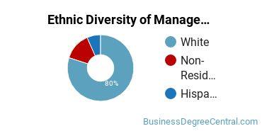 Management Sciences & Methods Majors in SD Ethnic Diversity Statistics