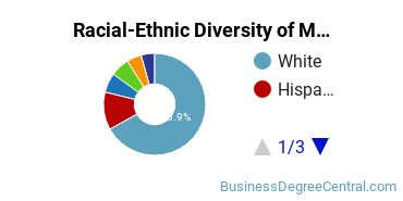 Racial-Ethnic Diversity of Marketing Management Students with Bachelor's Degrees