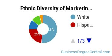 Marketing Majors in NJ Ethnic Diversity Statistics