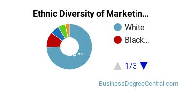 Marketing Majors in NC Ethnic Diversity Statistics