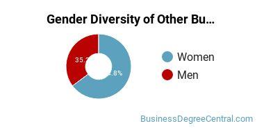 Other Business & Marketing Majors in CA Gender Diversity Statistics