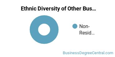 Other Business & Marketing Majors in CT Ethnic Diversity Statistics