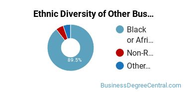 Other Business & Marketing Majors in DC Ethnic Diversity Statistics