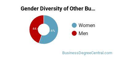 Other Business & Marketing Majors in ID Gender Diversity Statistics