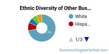 Other Business & Marketing Majors in LA Ethnic Diversity Statistics