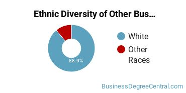 Other Business & Marketing Majors in ND Ethnic Diversity Statistics