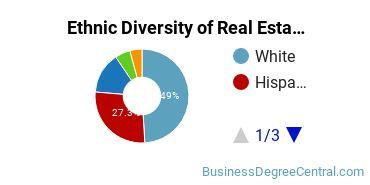 Real Estate Majors in FL Ethnic Diversity Statistics