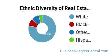 Real Estate Majors in NE Ethnic Diversity Statistics