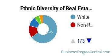 Real Estate Majors in PA Ethnic Diversity Statistics