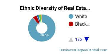 Real Estate Majors in SC Ethnic Diversity Statistics
