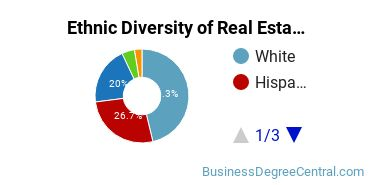 Real Estate Majors in TX Ethnic Diversity Statistics