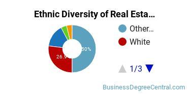 Real Estate Majors in WA Ethnic Diversity Statistics