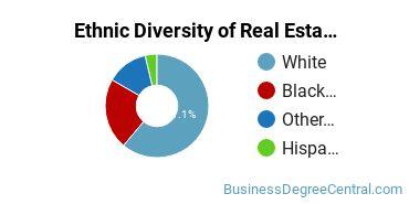 Real Estate Majors in WV Ethnic Diversity Statistics