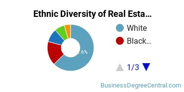 Real Estate Majors in WI Ethnic Diversity Statistics